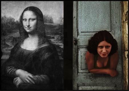 Leonardo Da Vinci In B&W and Henri Cartier Bresson In Color ( Obviously Edited)